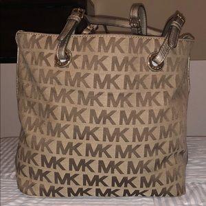 Michael kors jet set mk logo-print signature Gold